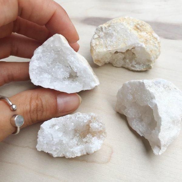 calcite - geode - quartz