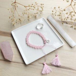 sola - bracelet - quartz - rose