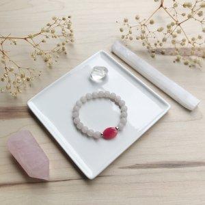 Amora - bracelet - quartz rose - eau