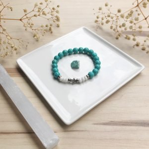 farha - bracelet - magnesite - bowenite
