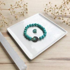 Avaa - bracelet - magnesite - abalone