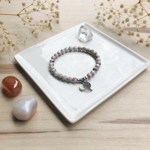 leya - bracelet - howlite - abalone