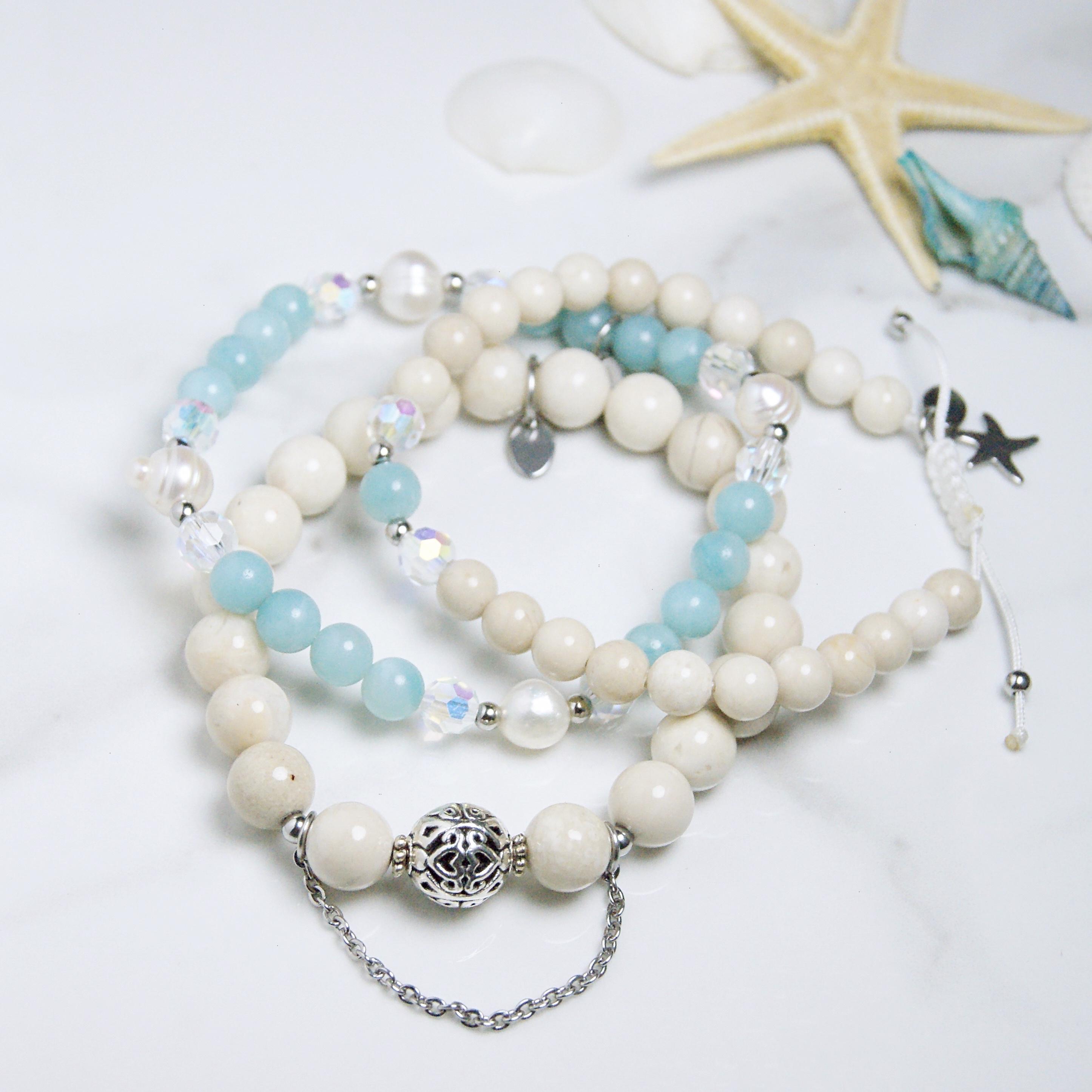 bracelets - trio - apaisant - eau