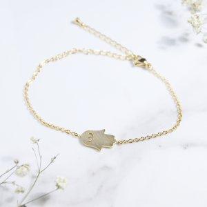 bracelet - inox - hamsa - dore
