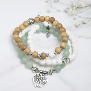 trio - ancré - bracelets - terre