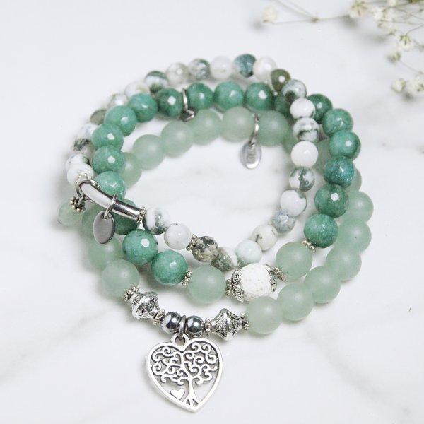bracelets - trio - terre