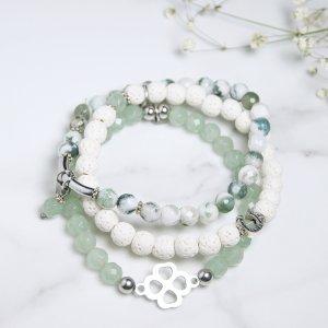 trio - chanceux - bracelets - terre