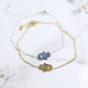 bracelet - inox - hamsa - dore - argent