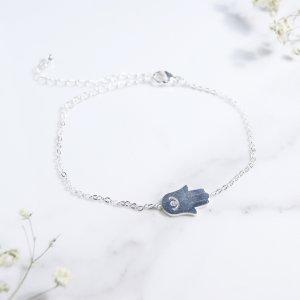 bracelet - inox - hamsa - argent