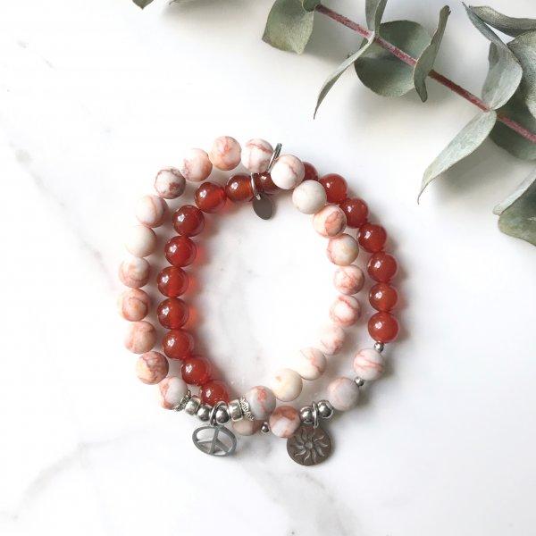 bracelets - duo - feu