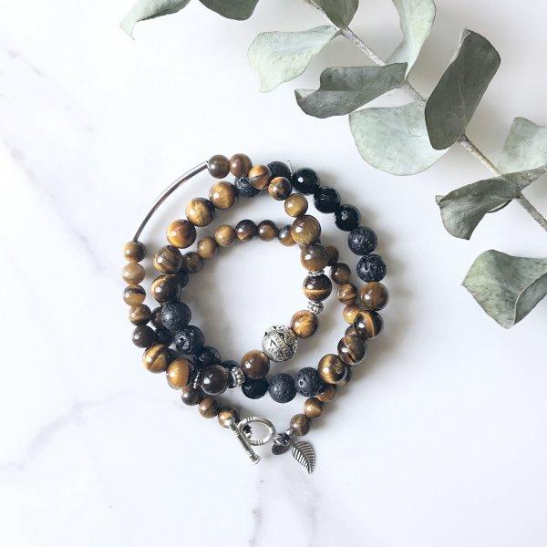 bracelets - trio - realisation - terre
