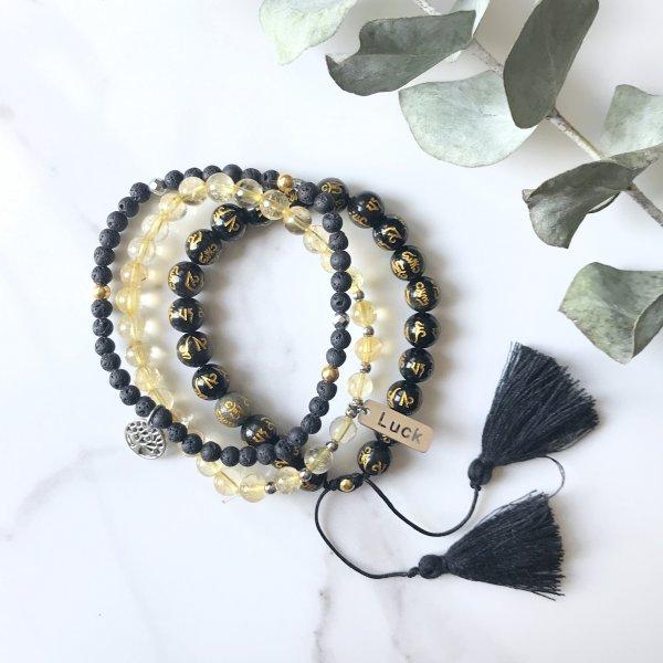 bracelets - trio - ancré - terre