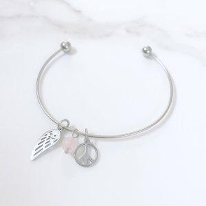 breloques - astra - aile - quartz - rose - paix