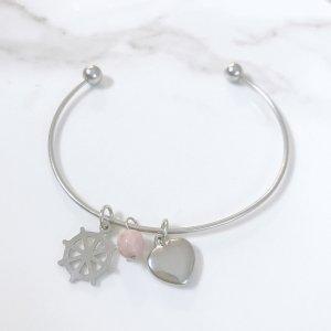 bracelet - astra - volant - coeur - rhodochrosite