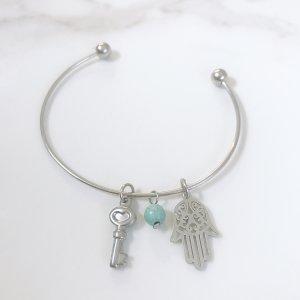 bracelet- magnesite - hamsa - clef