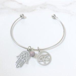 bracelet - hamsa - mookaite - oudjat - astra