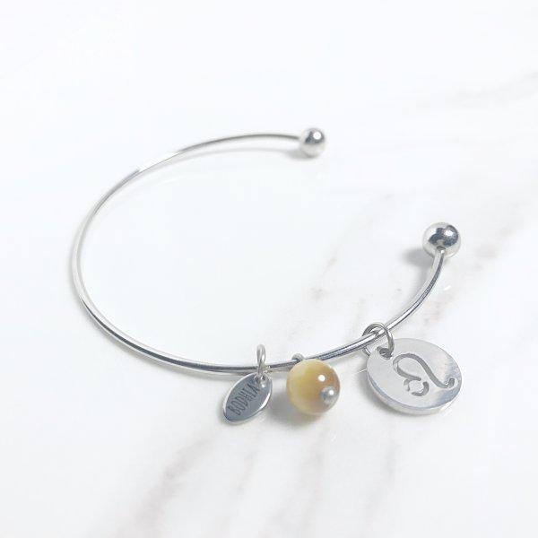 astra - bracelet - lion - oeil de tigre