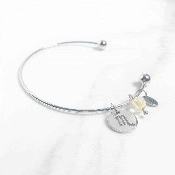 astra - bracelet - scorpion - citrine