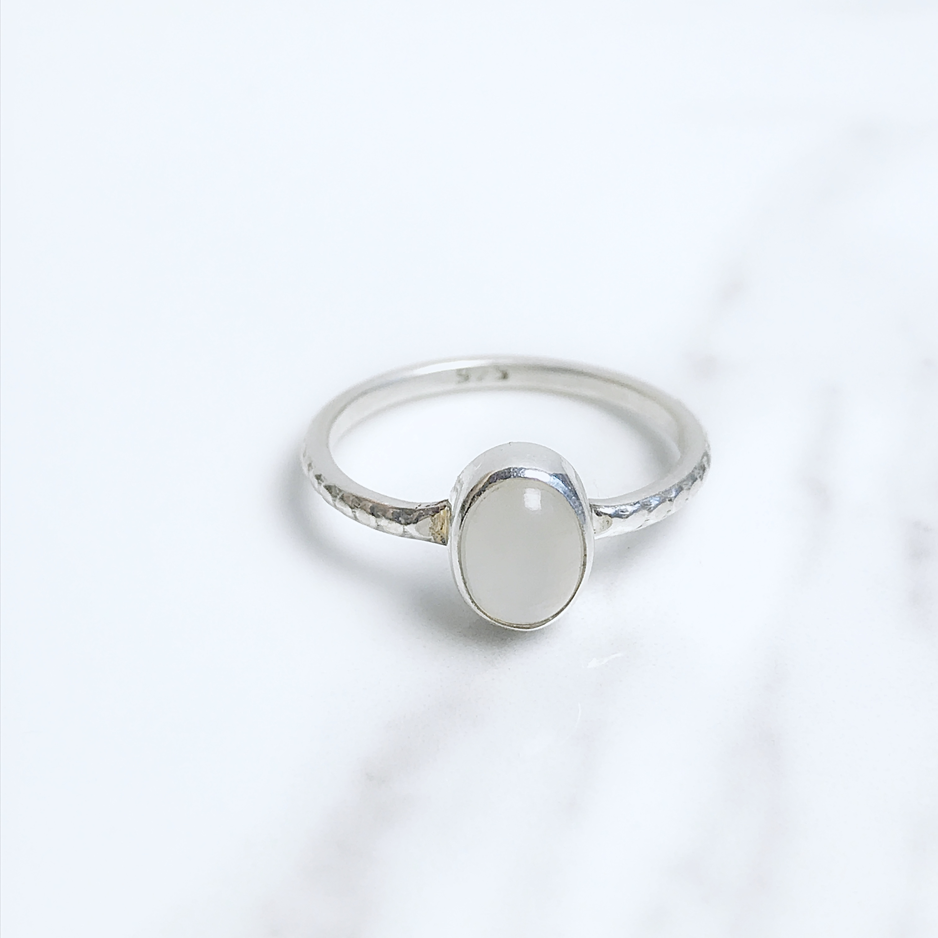 Luna Drop Anneau COSMIC bijoux Argent Sterling Pierre De Lune Bague pierre Gemstone