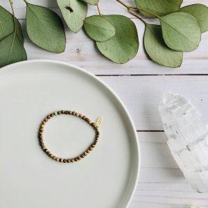 jaspe - beige - terre - bracelet - feuille