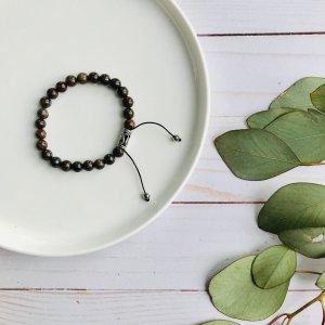 bracelet - homme - bronzite - macrame