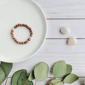 quartz - rose - bois - bracelet