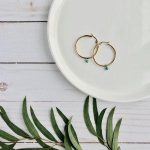 boucles - dore - magnésite - anneaux
