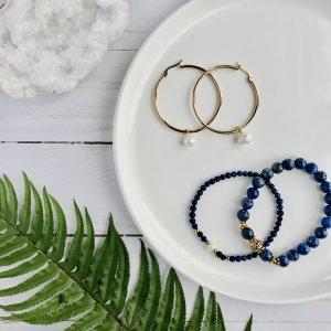 duo - eau - bleu - lapis - bracelets