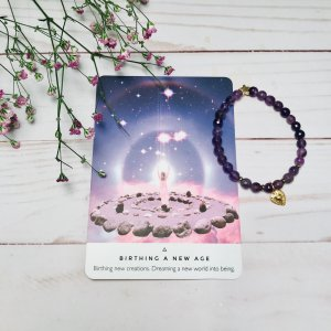 tarot - oracle - carte - bracelet - amethyste
