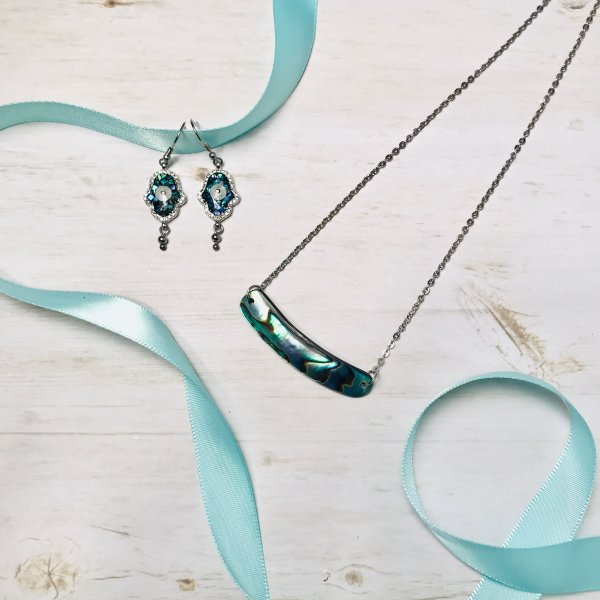 duo - boucles - collier - abalone