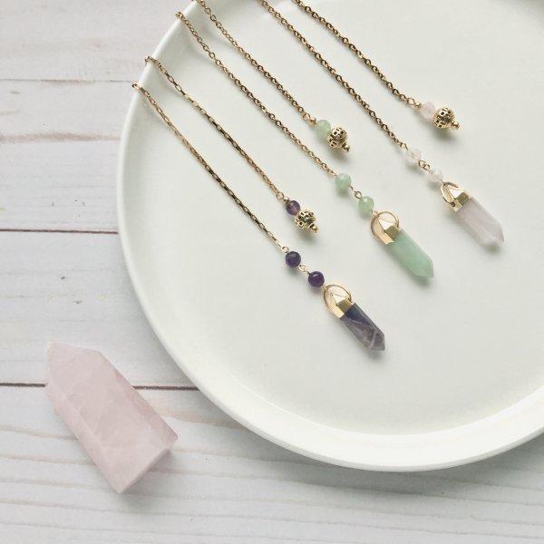 pendules - quartz - rose - aventurine - amethyste