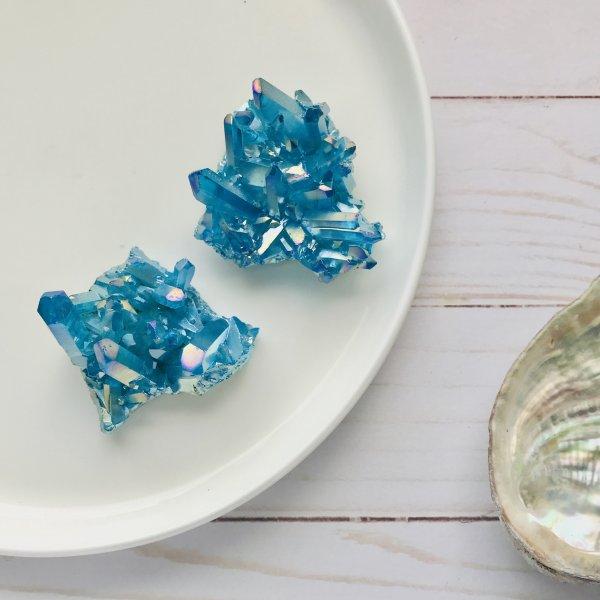 quartz - aura - bleu