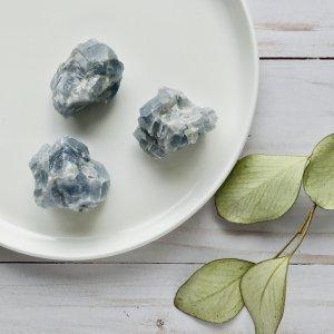 morceau - calcite - bleue
