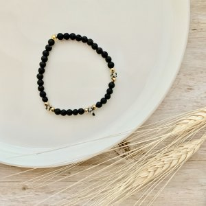 bracelet - lave - jaspe - pierres