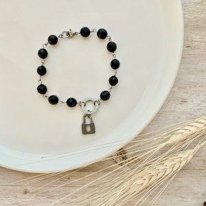 bracelet - cadenas - onyx - pierre