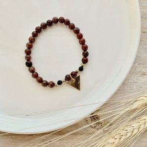 bracelet - jaspe - rouge