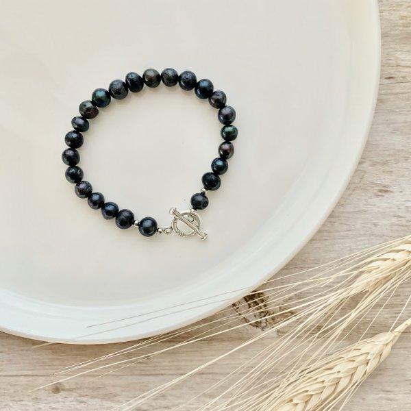 bracelet - perle - bleue