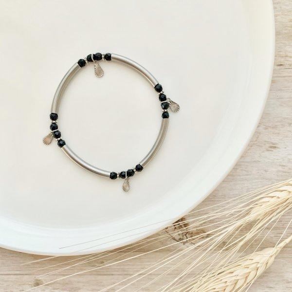 bracelet - onyx - pierres - inox