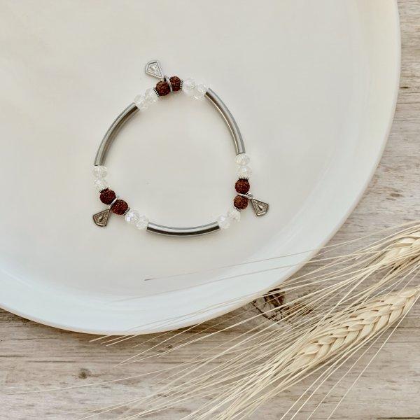bracelet - rudraksha - cristaux