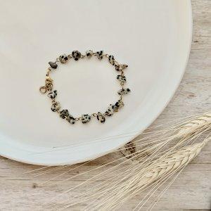 bracelet - jaspe - dalmatien - pierre