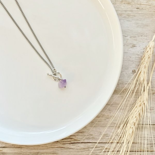 collier - amethyst - pointe