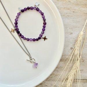 duo - collier - bracelet - amethyste