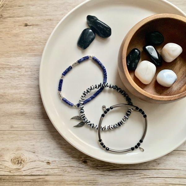lapis - bracelets - tourmaline - opale