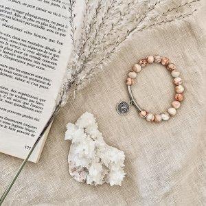 bracelet - aragonite - blanche