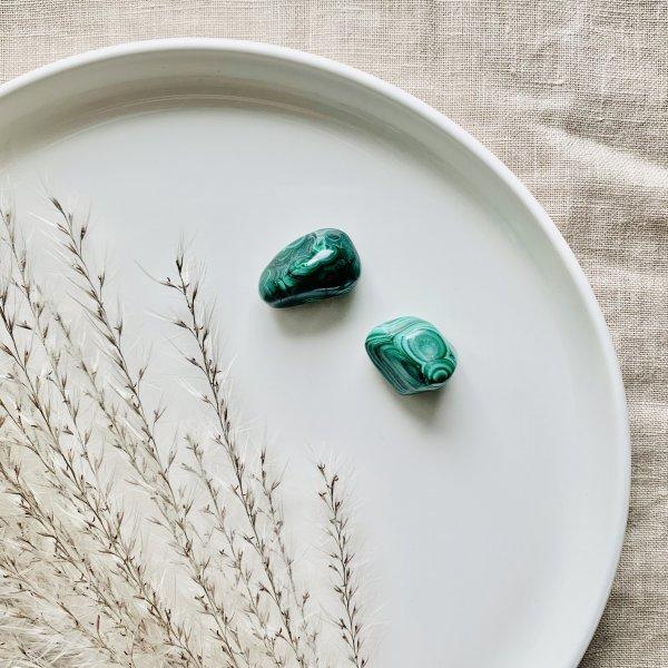 malachite - polie - verte
