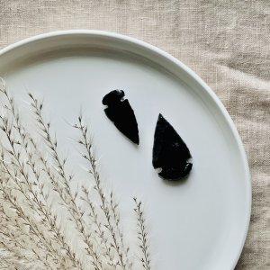 fleche - obsidienne - noire