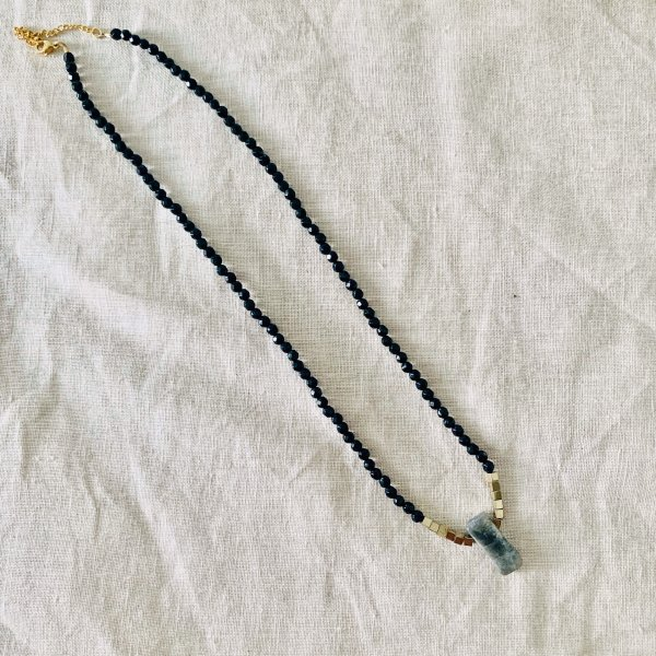 collier - lana - labradorite - onyx