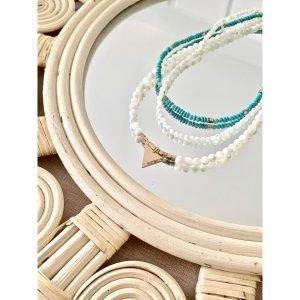 colliers - trio - turquoise - nacre
